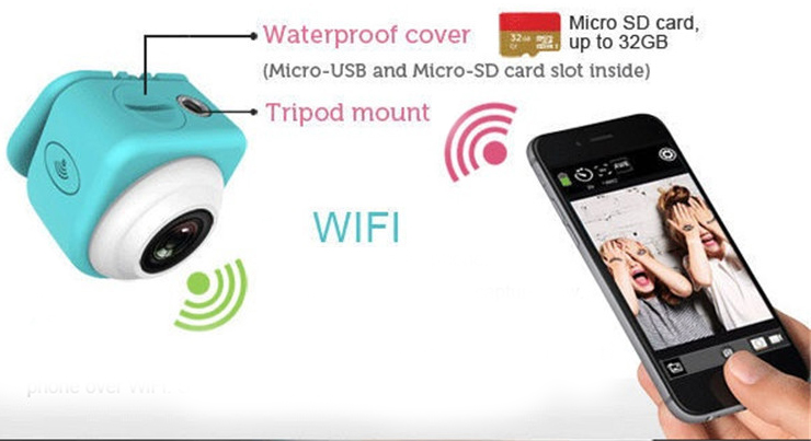 Mini spion camera wifi